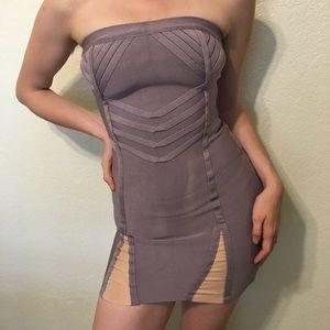 Hervé Leger lilac & rose bandage mini dress 👗